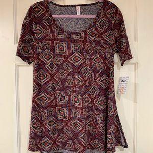 LuLaRoe multi-colored Perfect T shirt XS NWT